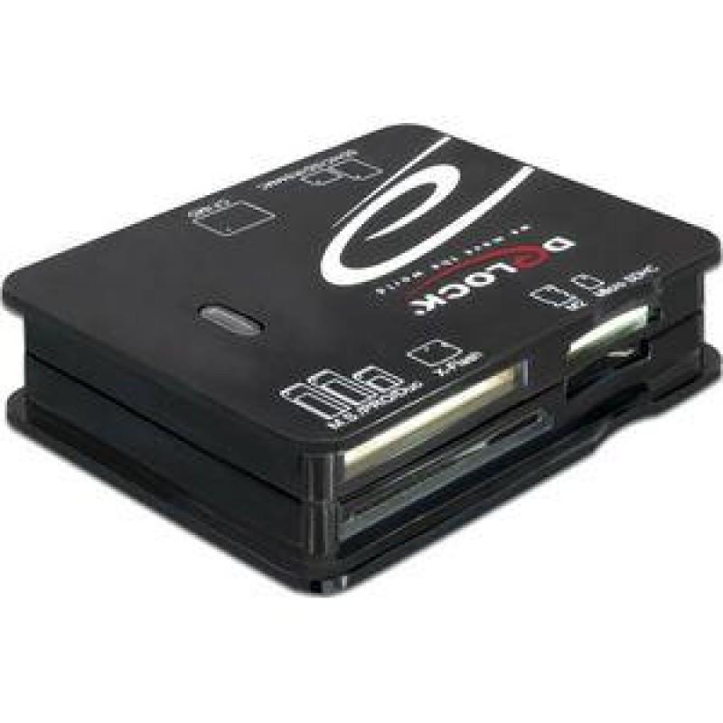 DeLOCK USB 2.0 CardReader All in 1 card reader Black