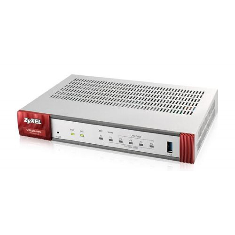 Zyxel ZyWALL USG20-VPN-EU0101F wired router Ethernet LAN Grey,Red