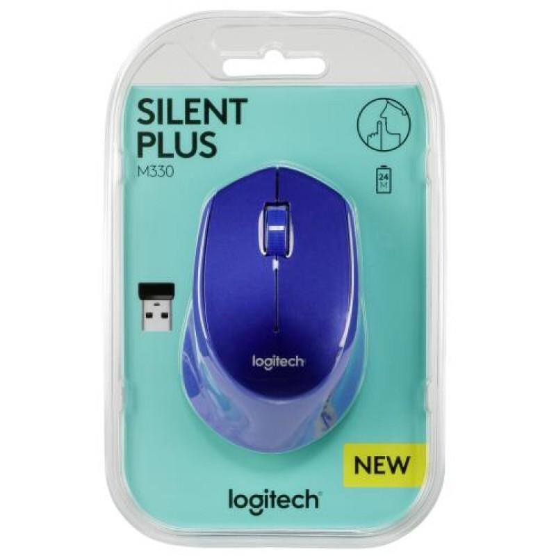 Logitech M330 mice RF Wireless Optical 1000 DPI Right-hand Blue