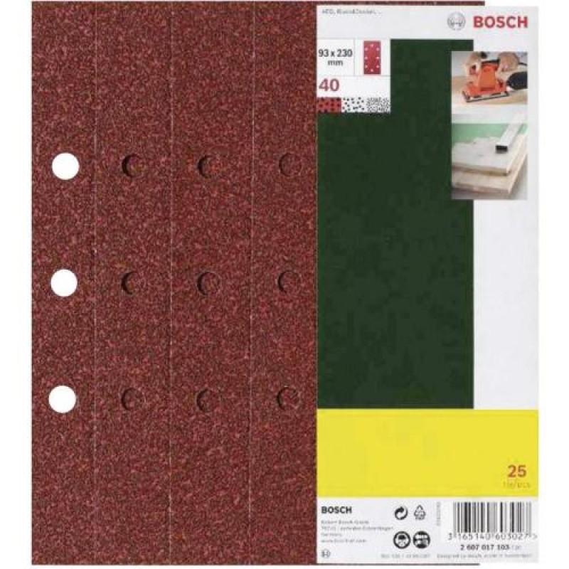 Bosch Schleifblatt für Schwingschleifer, P40, 25 Stück