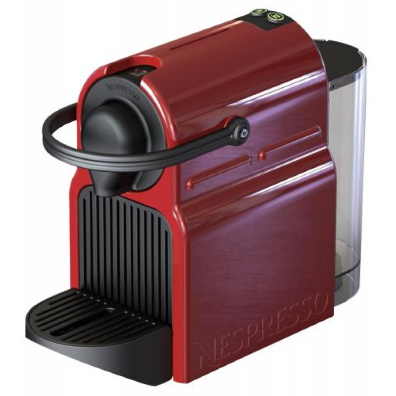 Krups Inissia XN1005 Ruby Red Freestanding Pod coffee machine 0.7 L
