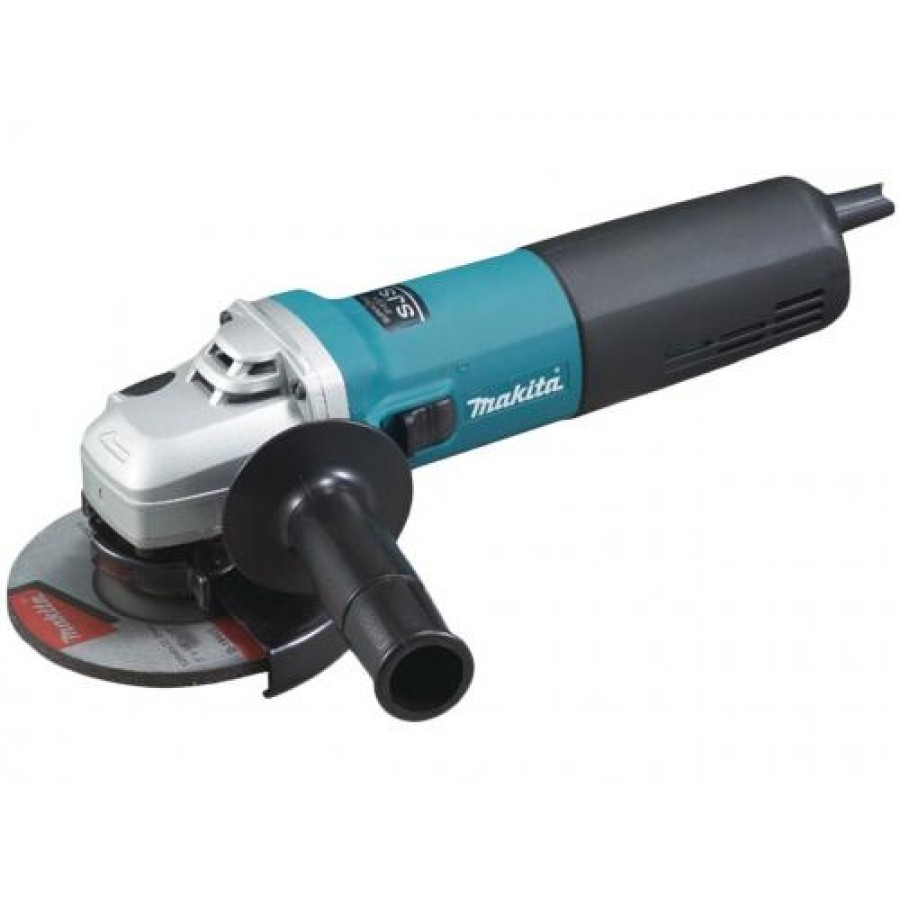 Makita 9565CR angle grinder 12000 RPM 1400 W 12.5 cm 2.2 kg Black,Cyan,Silver
