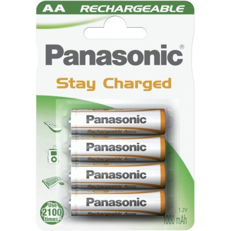 Wentronic AA 1.1Ah NiMH 4-BL Panasonic Nickel-Metal Hydride (NiMH) White