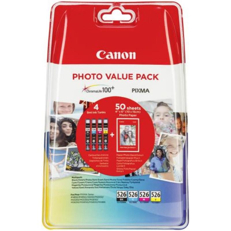 Canon CLI-526 C/M/Y/BK Original Black,Cyan,Yellow,Magenta Multipack 4 pc(s)