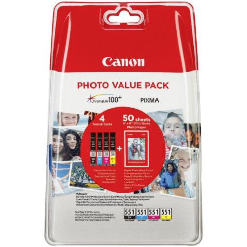 Canon CLI-551 C/M/Y/BK Original Black,Cyan,Yellow,Magenta Multipack 4 pc(s)