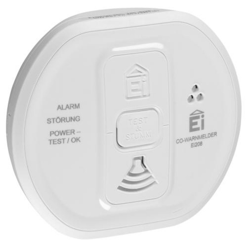 Ei Electronics Ei208 Electrochemical detector Wired Surface-mounted White