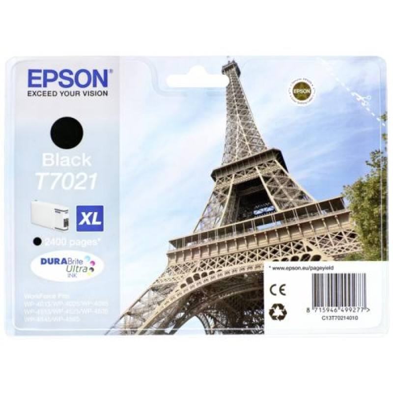 Epson ink cartridge XL black T 702 WorkForce Pro       T 7021