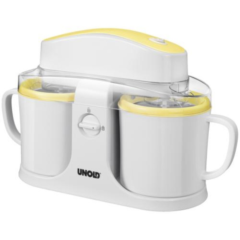 Unold Duo Gel canister ice cream maker 0.5 L White,Yellow 12 W