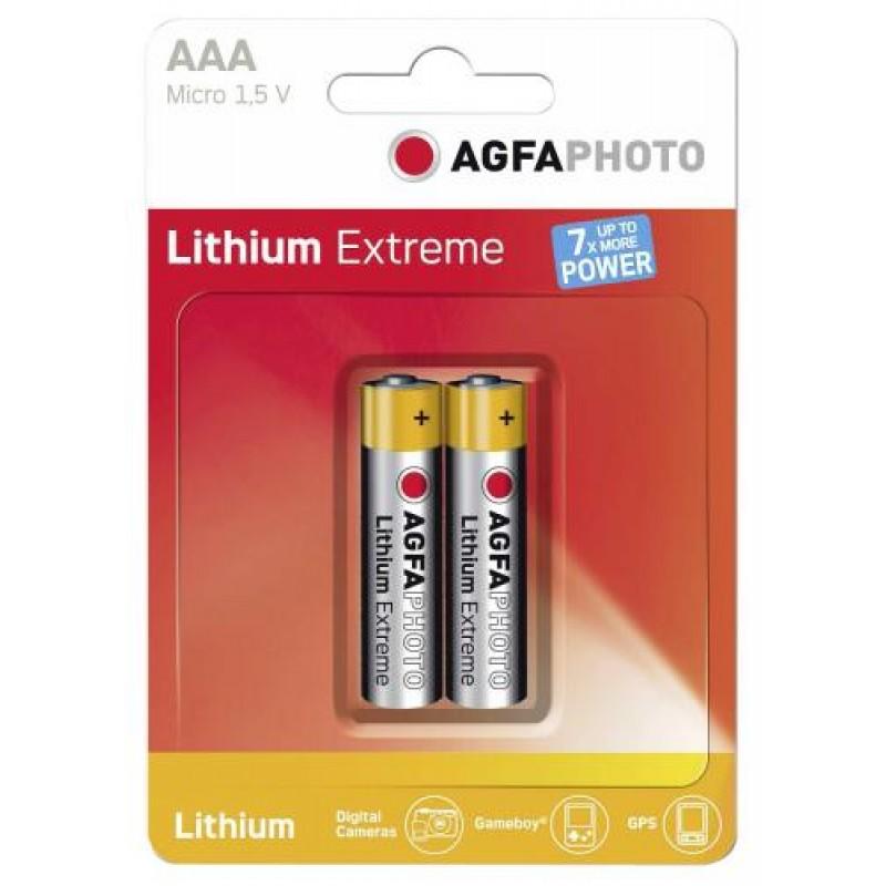 AgfaPhoto 2x Lithium Micro AAA Single-use battery Silver,Yellow