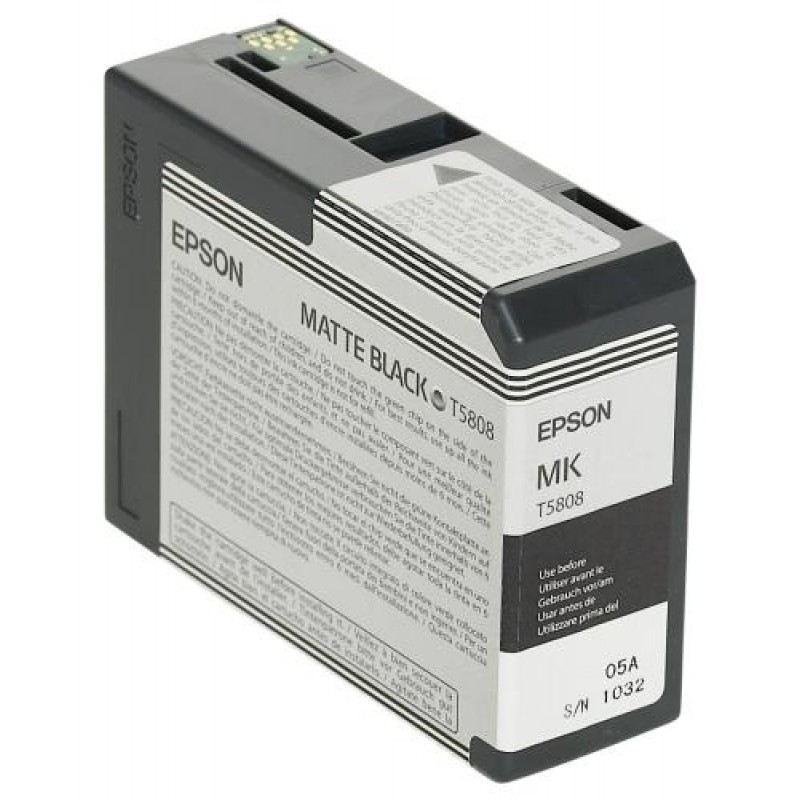Epson ink cartridge matte black T 580  80 ml              T 5808