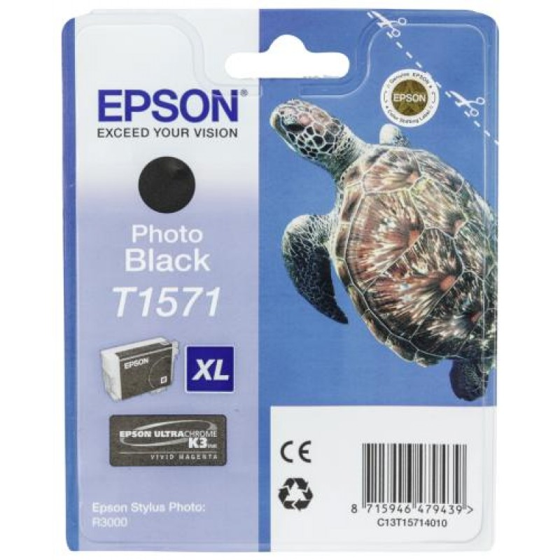 Epson ink cartridge photo black   T 157             T 1571