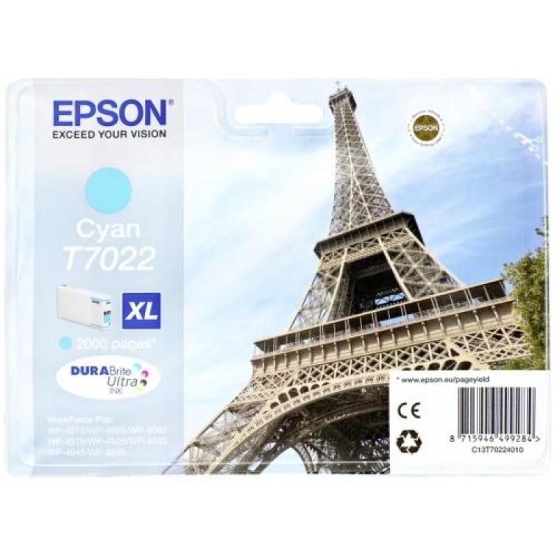 Epson ink cartridge XL cyan T 702 WorkForce Pro       T 7022