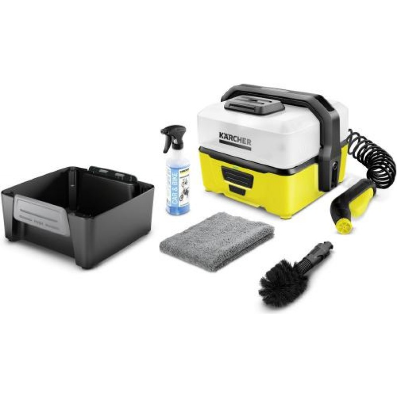 Kärcher OC 3 Bike Box pressure washer Compact Battery Black,Yellow 120 l/h 45 W