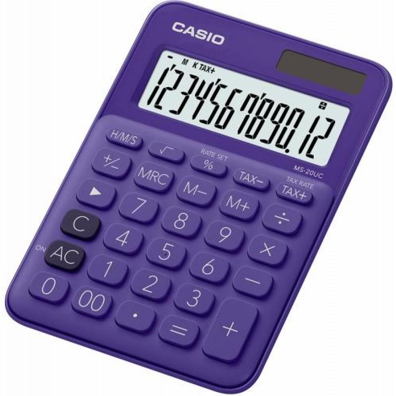 Casio MS-20UC-PL calculator Desktop Basic Purple