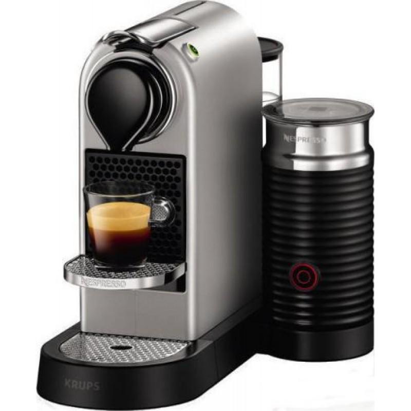 Krups XN760B coffee maker Freestanding Pod coffee machine Silver 1 L