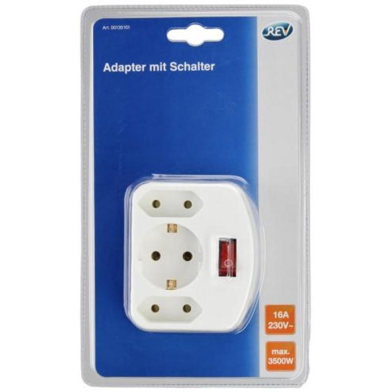 REV Euro double plug power adapter/inverter 3500 W White