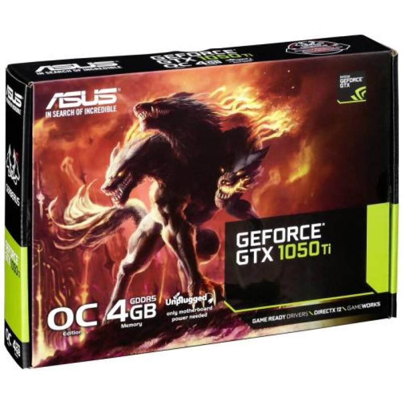 ASUS CERBERUS-GTX1050TI-O4G GeForce GTX 1050 Ti 4 GB GDDR5 Black,Red