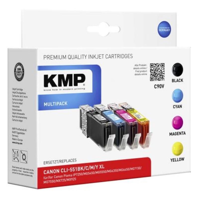 KMP C90V ink cartridge Black,Cyan,Magenta,Yellow Multipack 4 pc(s)