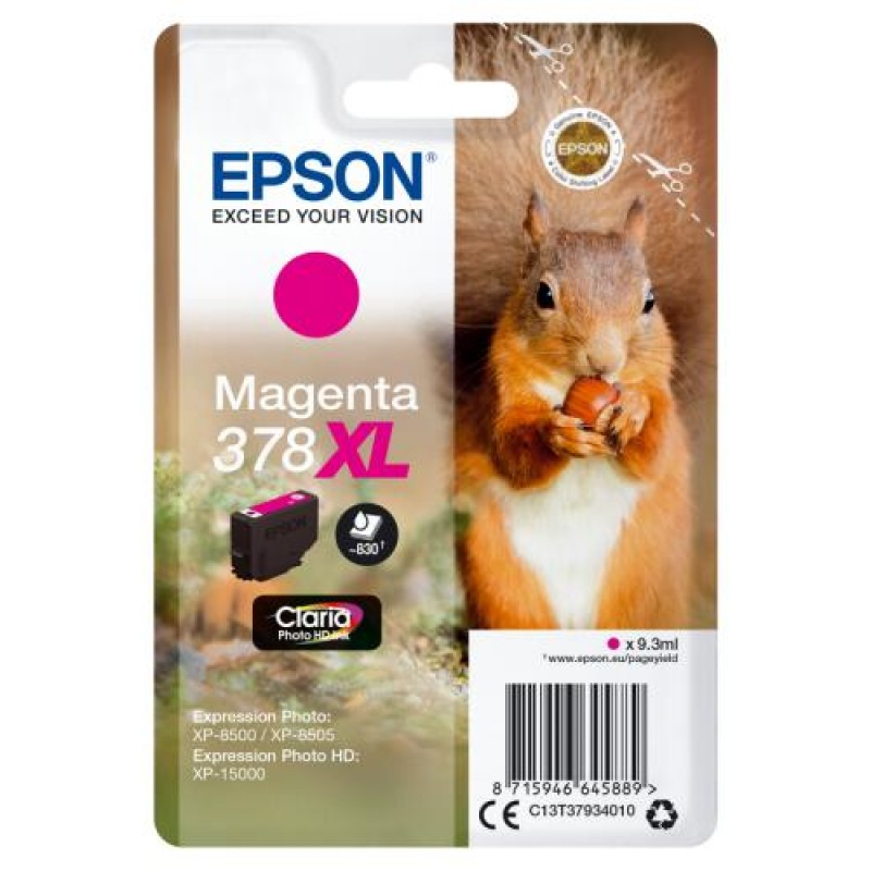 Epson Singlepack Magenta 378XL Claria Photo HD Ink
