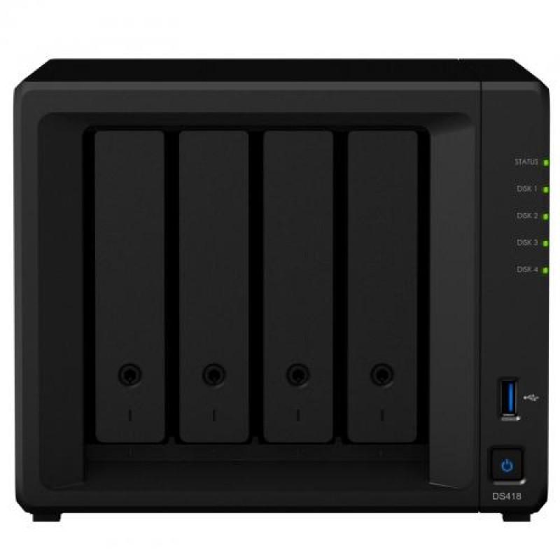 Synology DiskStation DS418 NAS/storage server Ethernet LAN Mini Tower Black
