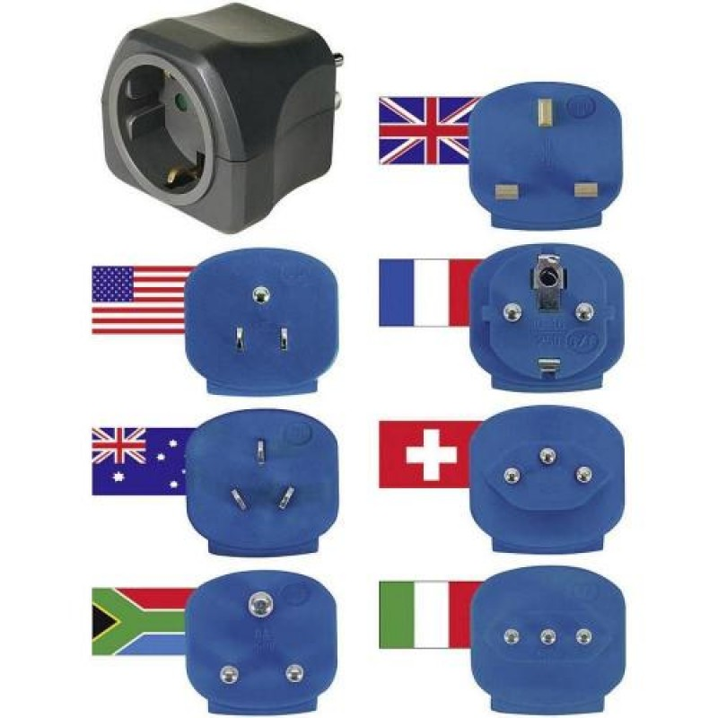 Brennenstuhl Travel plugs with 7 adapters to DE