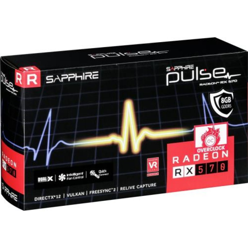 Sapphire 11266-36-20G graphics card Radeon RX 570 8 GB GDDR5 Grey