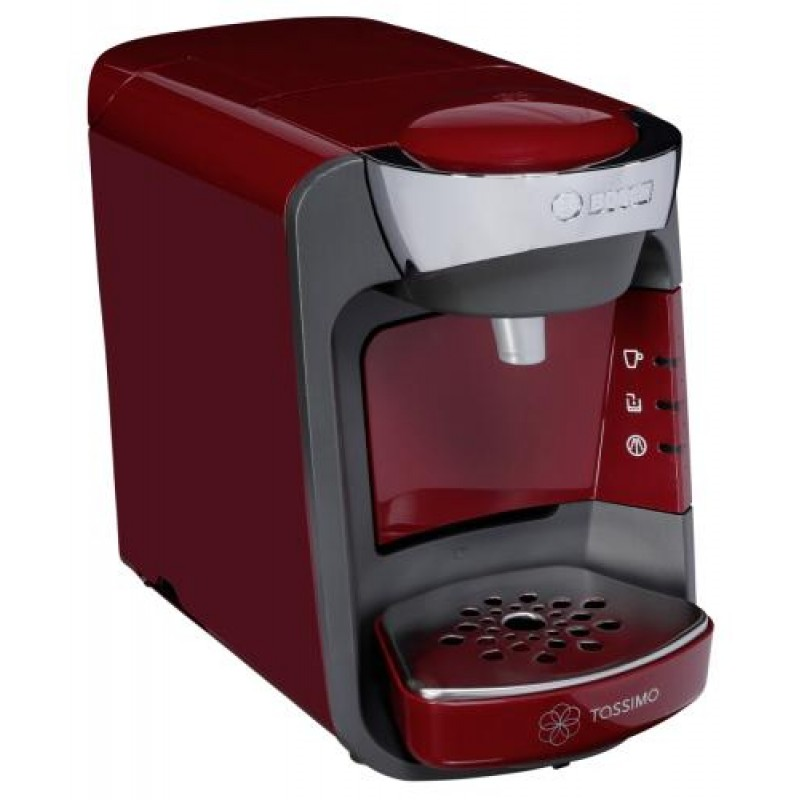 Bosch TAS3203 coffee maker Countertop Pod coffee machine 0.8 L Semi-auto Red