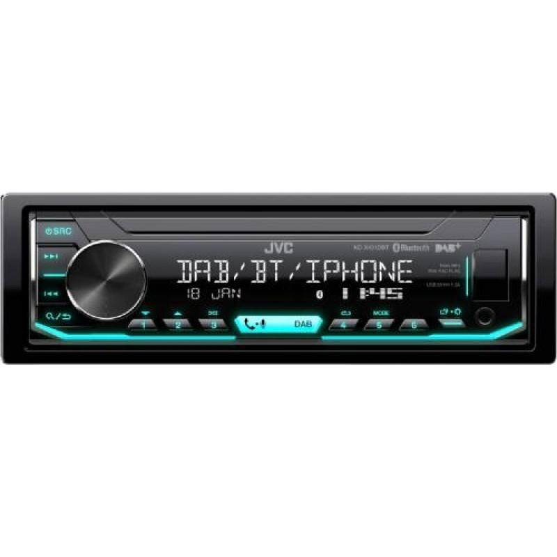 JVC KD-X451DBT car media receiver Black 350 W Bluetooth