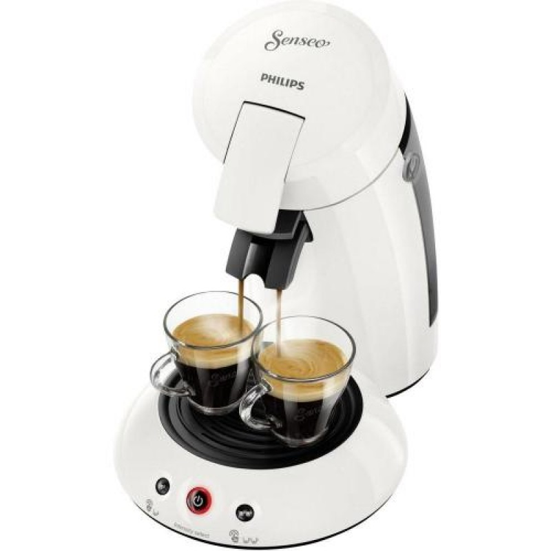Senseo Original HD6554/10 coffee maker Freestanding Pod coffee machine White 0.7 L Semi-auto