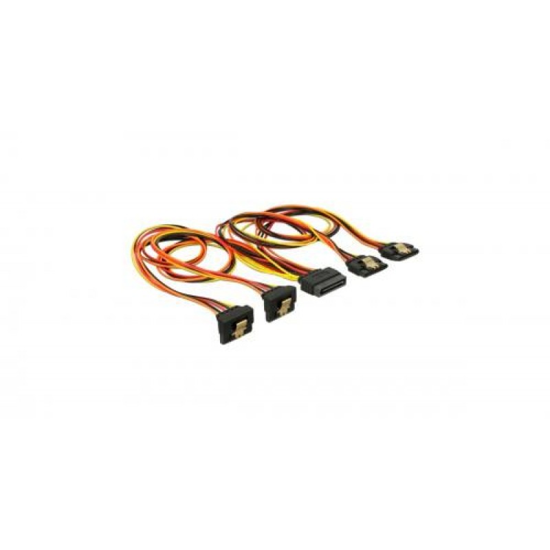DeLOCK 60151 internal power cable 0.3 m Black,Orange,Red,Yellow