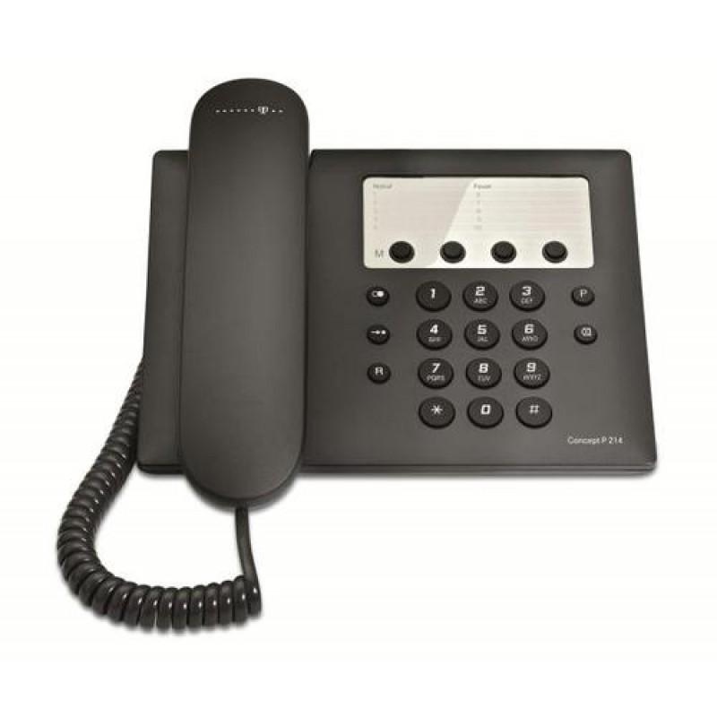 Telekom Concept P 214 Analog telephone Black