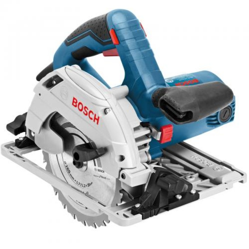 Bosch GKS 55+ GCE Black,Blue,Red,Silver 1350 W