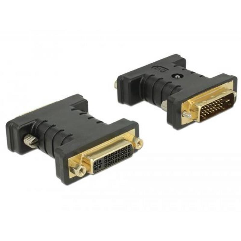 DeLOCK 63313 cable interface/gender adapter 1 x DVI 24+1 1 x DVI 24+5 Black