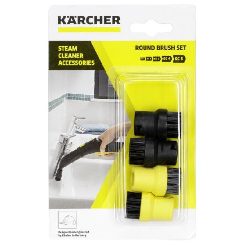 Kärcher 2.863-264.0 steam cleaner accessory Brush kit Black,Yellow