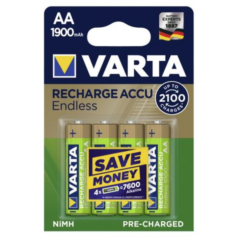 Varta 56676 101 404 household battery Rechargeable battery Nickel-Metal Hydride (NiMH) Gold,Green