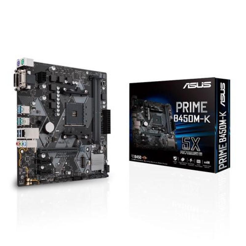 ASUS PRIME B450M-K motherboard Socket AM4 AMD B450 Micro ATX