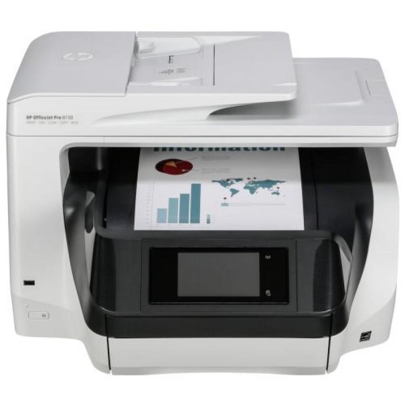 HP OfficeJet Pro 8730 Thermal Inkjet 24 ppm 2400 x 1200 DPI A4 Wi-Fi Grey