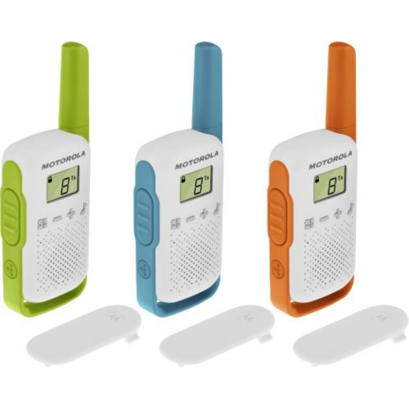 Motorola TALKABOUT T42 two-way radio 16 channels Blue,Green,Orange,White