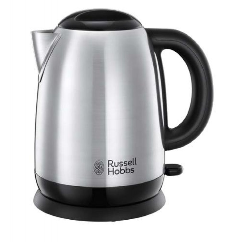 Russell Hobbs Adventure electric kettle 1.7 L Black,Silver 2400 W