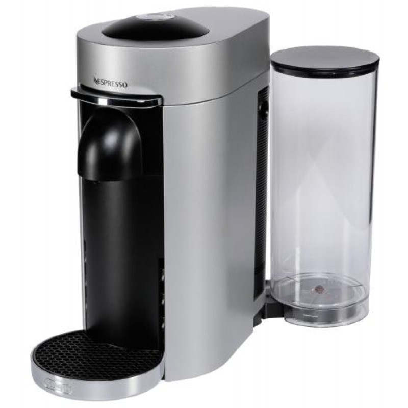 DeLonghi Nespresso Vertuo ENV 155.S coffee maker Freestanding Pod coffee machine Black,Silver 1.7 L 1 cups Fully-auto