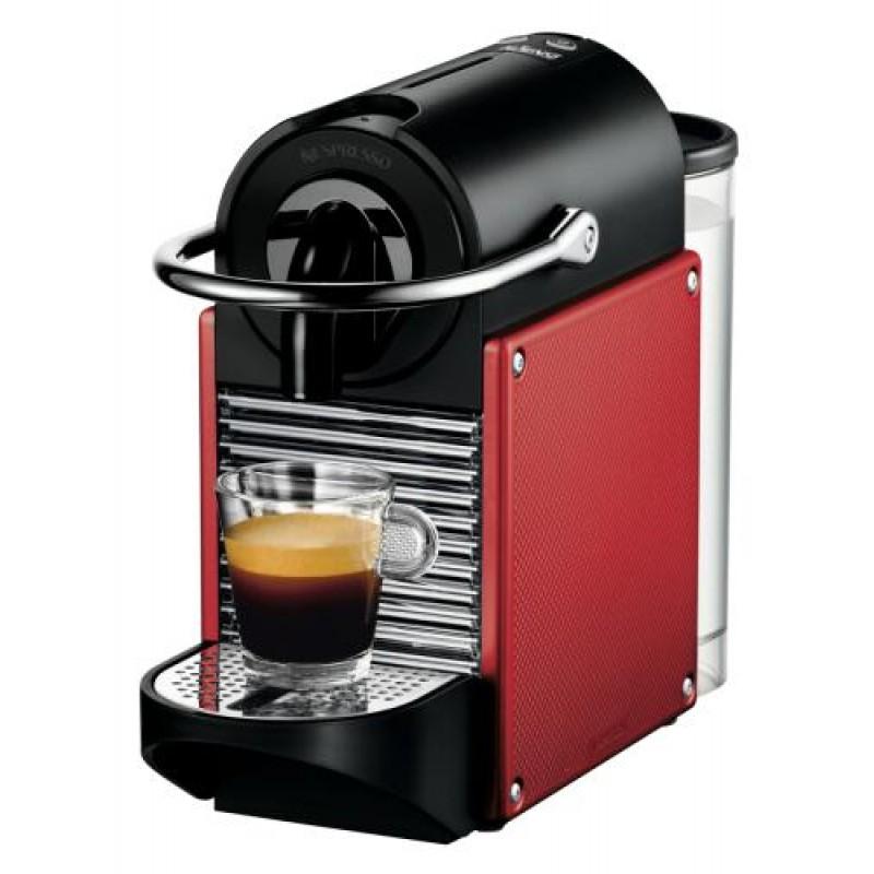 DeLonghi Pixie EN 125.R Freestanding Pod coffee machine 0.7 L Semi-auto Black,Red