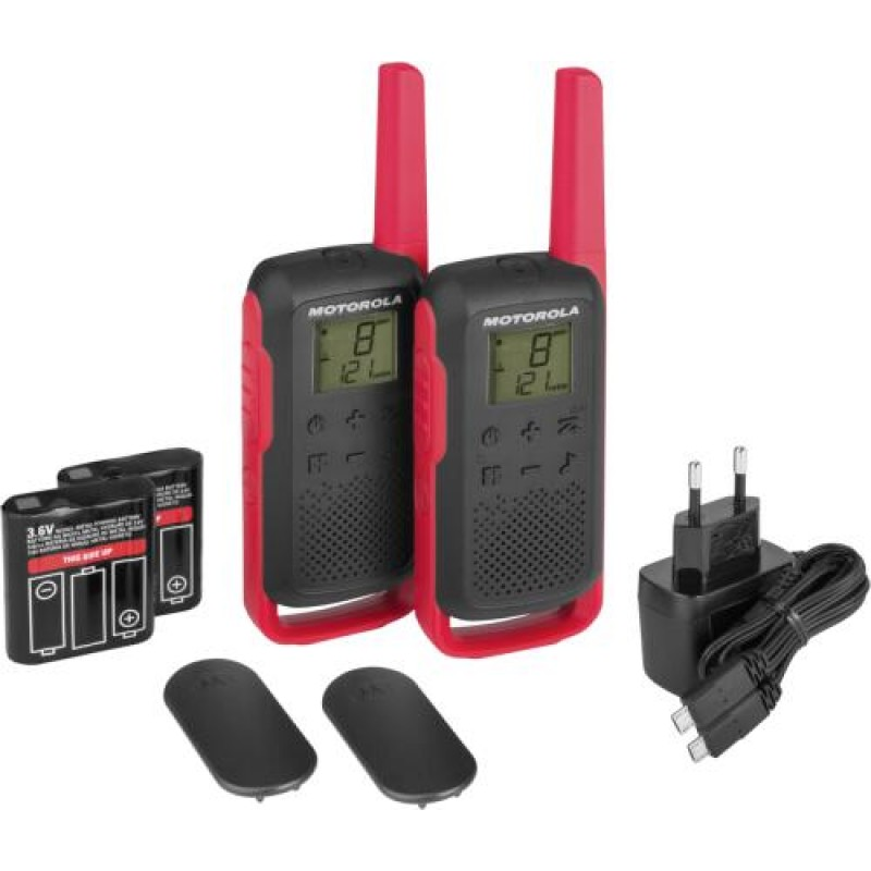 Motorola TALKABOUT T62 two-way radio 16 channels 12500 MHz Black,Red