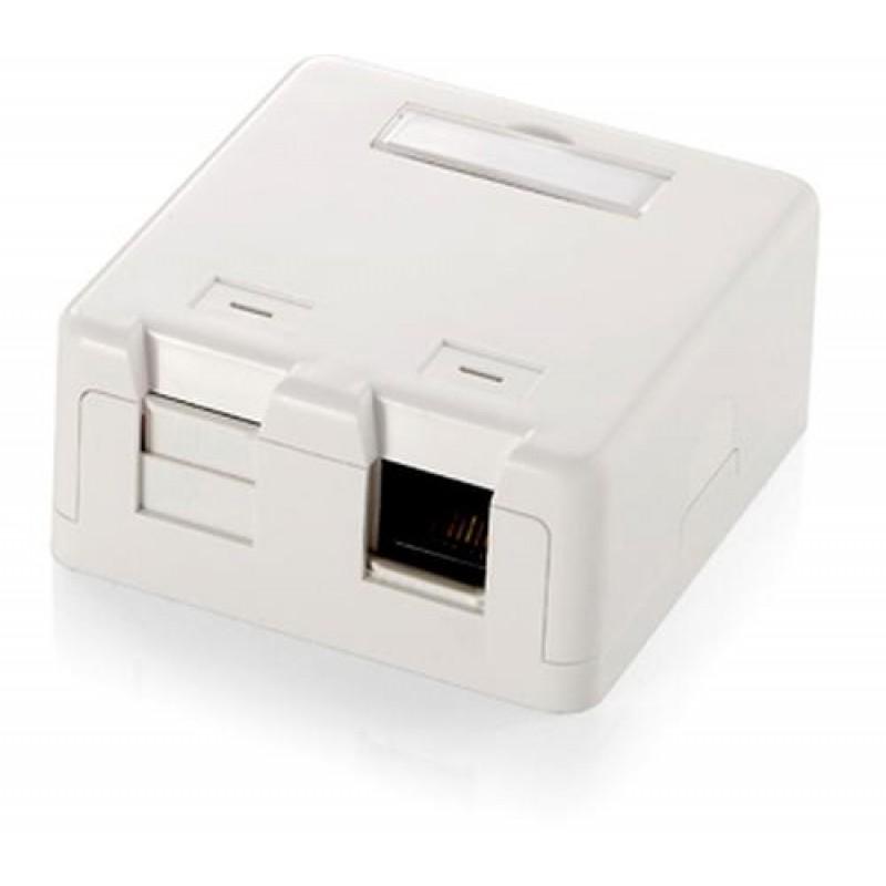 Equip 2-Port Keystone toputzgehäuse White