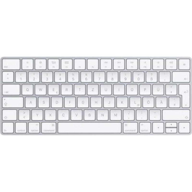 Apple Magic keyboard Bluetooth QWERTZ German Silver,White
