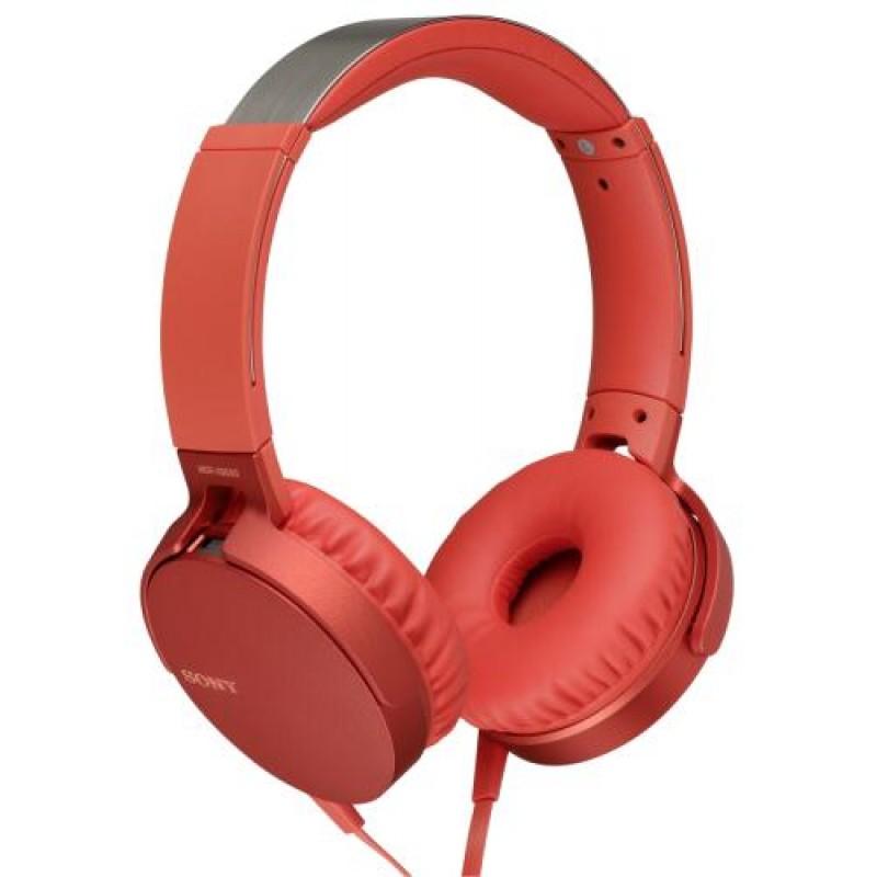 Sony MDR-XB550AP mobile headset Binaural Head-band Red