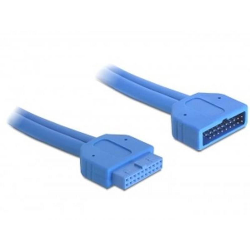 DeLOCK 82943 USB cable 0.45 m Blue