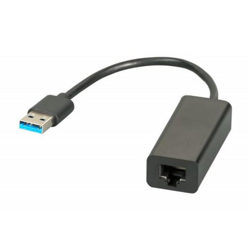 EFB Elektronik EB457 cable interface/gender adapter USB 3.0 RJ-45 Black