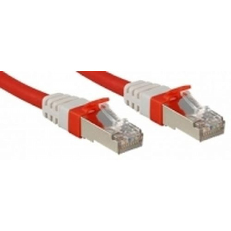 Lindy Cat.6 (A) SSTP / S/FTP PIMF Premium 0.5m networking cable Red