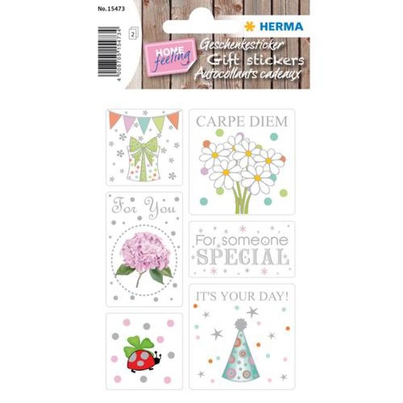 HERMA 15473 decorative sticker Paper Multicolor 12 pc(s)