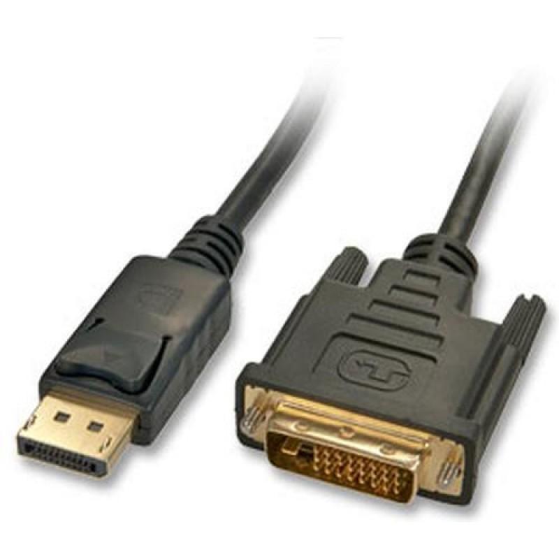 Lindy 5m DisplayPort/DVI Cable DVI-D Black